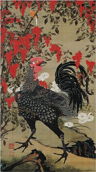 'Nandina_and_Rooster'_from_the_'Colorful_Realm_of_Living_Beings'_by_Ito_Jakuchu -.jpg
